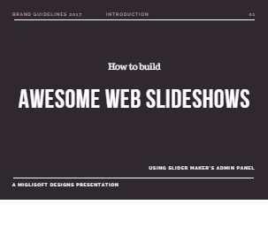 How to build slideshows with Slider Maker
